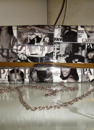Сумка сумочка клатч винтажный париж vogue black & white журнал