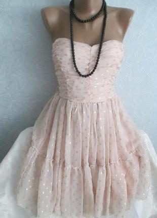 Платье-бюстье коктейльное