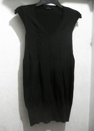 Платье мини isabell kristensen couture чёрное облегающее футляр обтягивающее