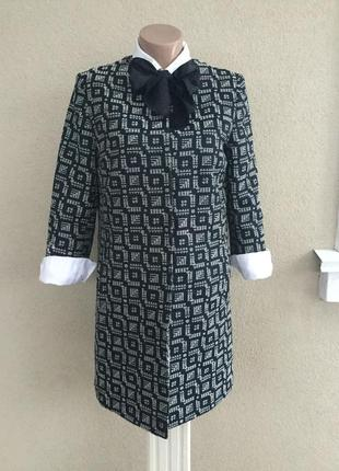 Удлиненный жакет,пиджак,тренч,кардиган,легкое пальто фактурное,,хлопок