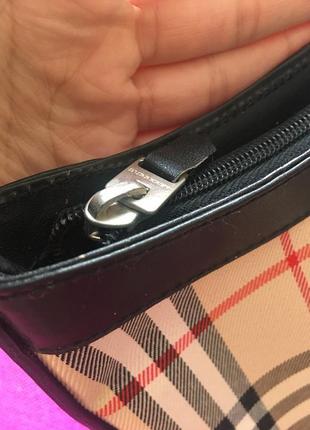 Оригинал винтажная сумка burberry в клетку на плечо небольшая4 фото