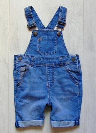Стильный джинсовый комбинезон-шортиками. next. размер 1.5-2 года