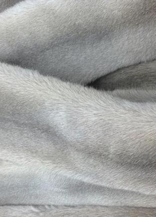 Шкурка норки новая серебристо-голубая чулок-самец на пошив воротника или шапки