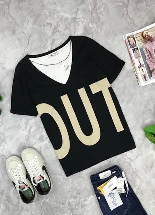 Двухцветная футболка-оверсайз  ts1902106 lft by zara