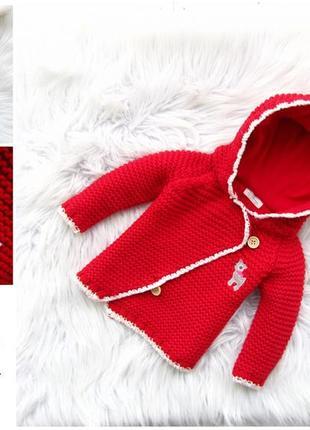 Стильная кофта реглан свитер  с капюшоном и бубенцом next