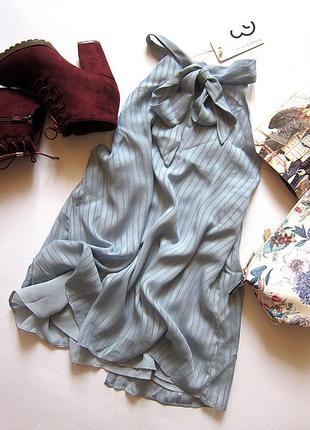 Шикарная блуза с бантом и красивой спинкой