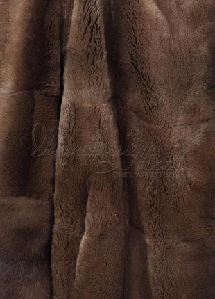 Шуба норковая манто из лесной норки норка +капор с норкой пояс  в подарок4