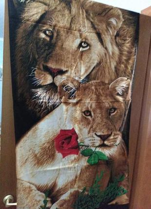 Полотенце банное лев и львица