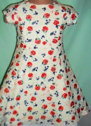 Кружевное платье y/d/ 5-6лет рост 116