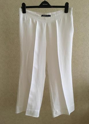 Белые льняные брюки cerruti jeans