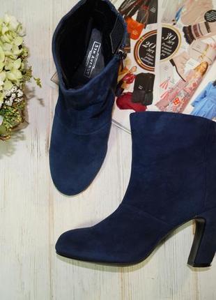 5th avenue. замша. стильные ботинки на изогнутом каблуке