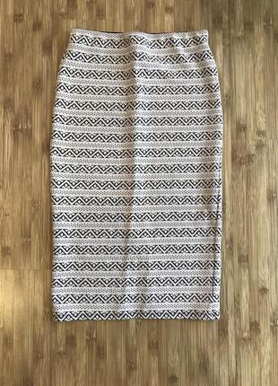 Трикотажная юбка stradivarius размер s 26