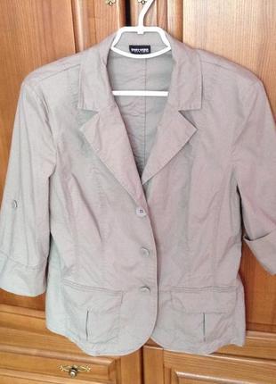 Мегалегкий приятный пиджак gerry weber 40casual fit размер.новый