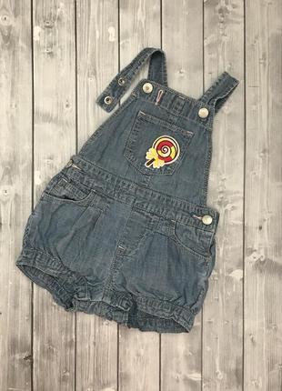 Ромпер джинсовый baby gap 12-18 мес