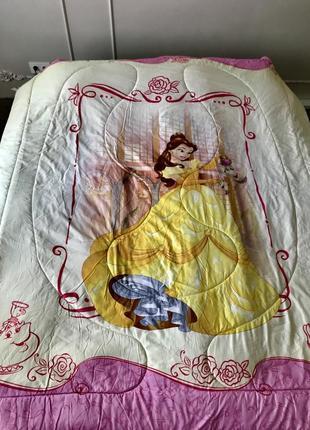 Большое двустороннее одеяло- покрывало с принцессами disney. usa. оригинал.