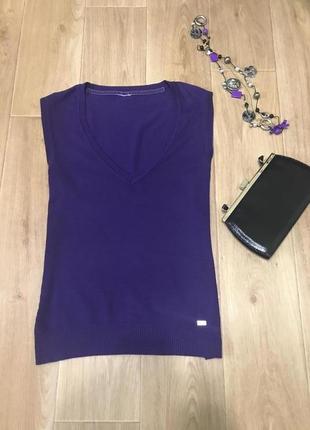 Стильная жилетка фиолетового цвета фирмы street one