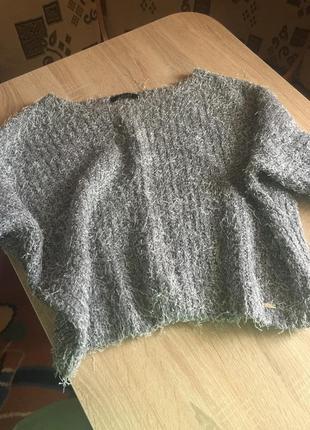 Укороченный свитер-травка