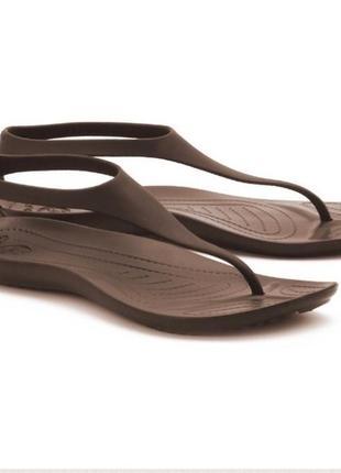 Новые босоножки crocs w10(41) sexi flip крокс сандали