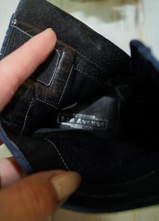 5th avenue. замша. стильные ботинки на изогнутом каблуке2 фото