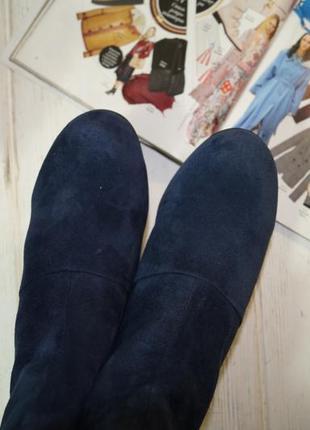 5th avenue. замша. стильные ботинки на изогнутом каблуке3 фото