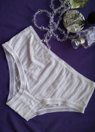 Летние белые трусики milavitsa размер 38