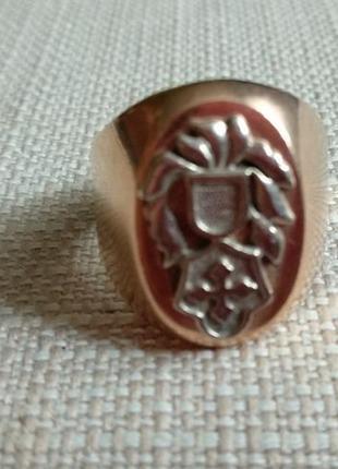 Кольцо золотое мужское
