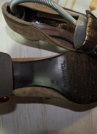 Tamaris. очень красивые туфли лоферы на широком каблучке2