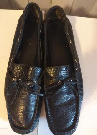 Кожаные мокасины туфли кожа