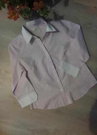 Рубашка полоска marks & spencer