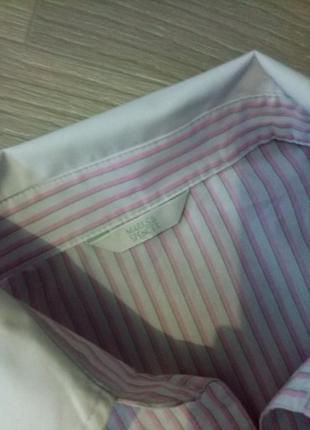 Рубашка полоска marks & spencer2