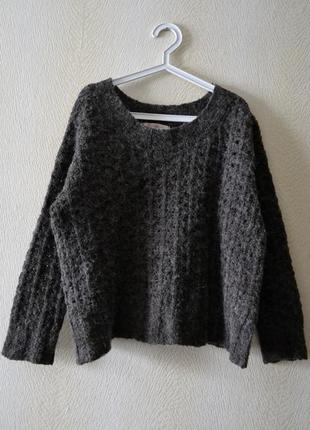Свободный джемпер свитер оверсайз р.m-l шерсть альпака  culture