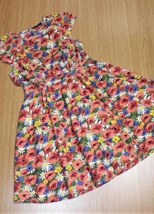 Красивое летнее платье из хлопка для девочки