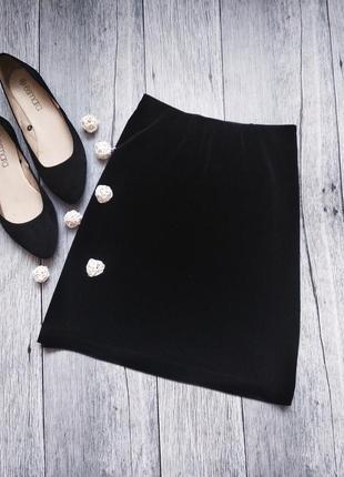Шикарная бархатная вельветовая юбка на резинке от esmara