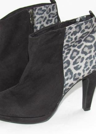Marko tozzi стильные нарядные женские ботинки на каблуке 39р ст.25см m31