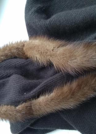Шуба норковая манто из лесной норки норка +капор с норкой пояс  в подарок5