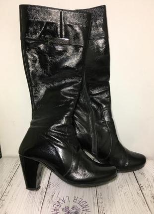 Женские сапоги кожаные 35.5 размер