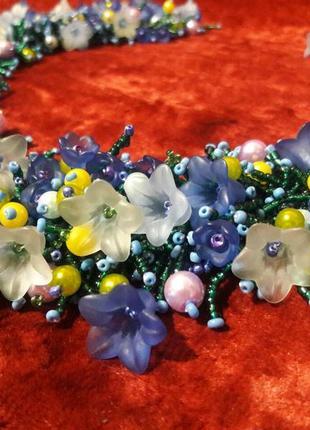 Колье ожерелье из бисера