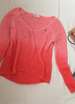 Вязаный свитер hollister