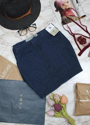 Обнова! юбка мини джинс деним синяя классика новая качество