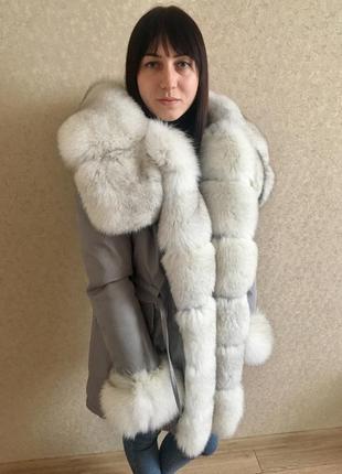 Парка куртка мех песец натуральный