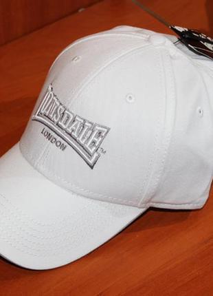 Кепка lonsdale - блайзер, бейсболка біла everlast