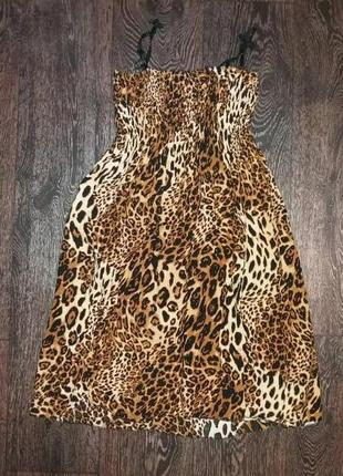 Платье пляжное,летнее, тигровое, леопардовое обмен