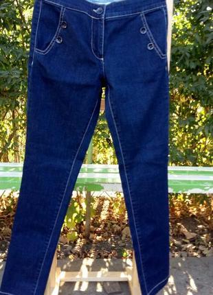 Джинси жіночі темно-синього кольору, нові (без бірки).