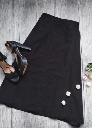 Базовая юбка миди большого размера