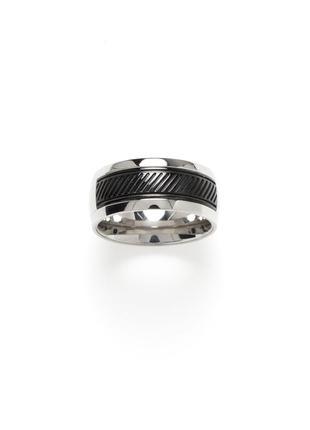 Кольцо из нержавеющей стали серебро черный royal-ego