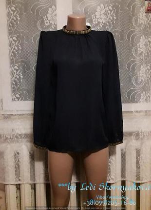 Новая нарядная блуза с бисером на шее, размер с-м