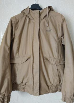 Классная утеплённая куртка puma