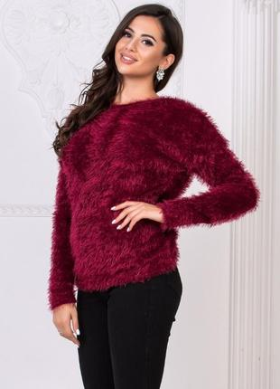 Шикарный свитер травка цвета марсала, свитшот, кофта, джемпер