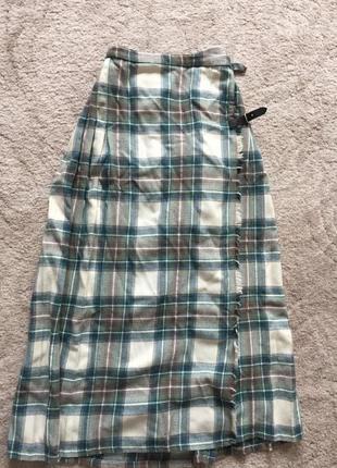 Красная шерстяная юбка в пол в складку сзади , размер м s l