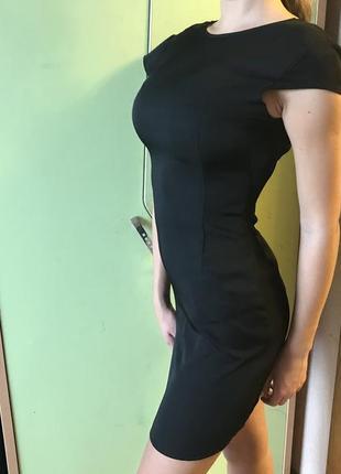 Чёрное обтягивающее платье 34-36 размер цена 100 грн